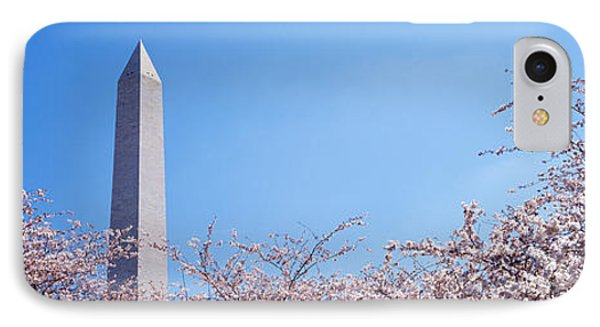 Washington Monument Behind Cherry IPhone Case by Panoramic Images