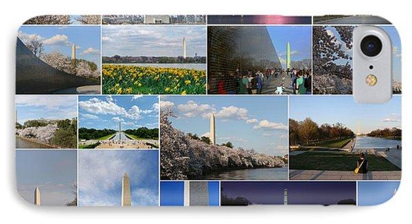 Washington Monument Collage 2 Phone Case by Allen Beatty