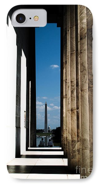 IPhone Case featuring the photograph Washington Monument Color by Angela DeFrias
