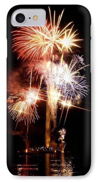 Washington Monument Fireworks 2 Phone Case by Stuart Litoff