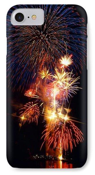 Washington Monument Fireworks 3 Phone Case by Stuart Litoff