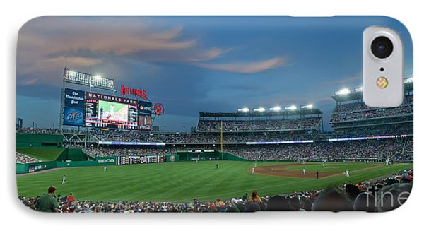 Washington Nationals In Our Nations Capitol IPhone Case by Thomas Marchessault