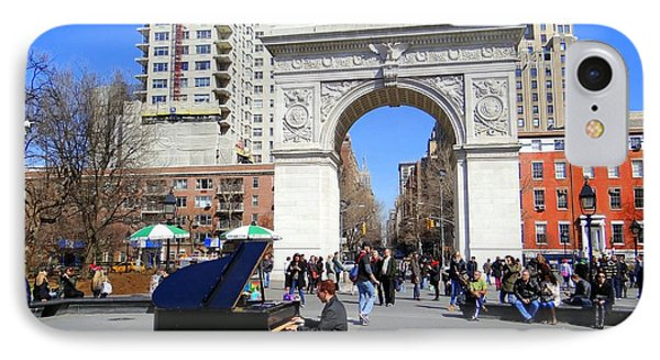 Washington Square Pianist Phone Case by Ed Weidman