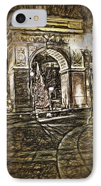 Washington Square Sketch IPhone Case by Terry Cork
