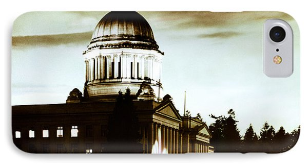 IPhone Case featuring the photograph Washington State Capitol Campus And Tivoli Fountain by Merle Junk