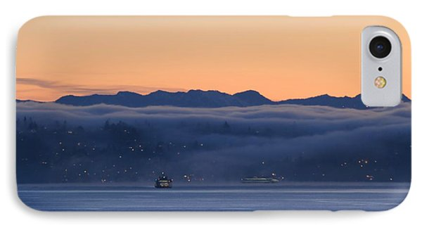 IPhone Case featuring the photograph Washington State Ferries At Dawn by E Faithe Lester