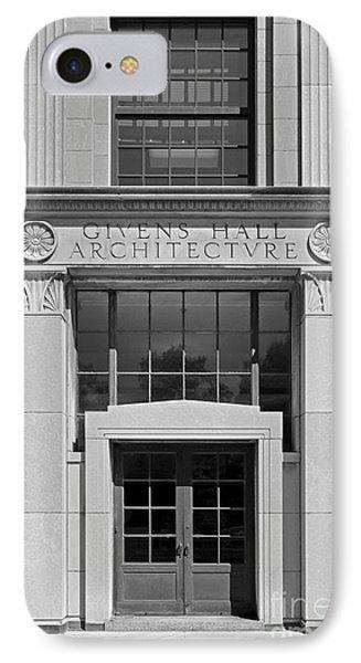 Washington University Givens Hall  Phone Case by University Icons
