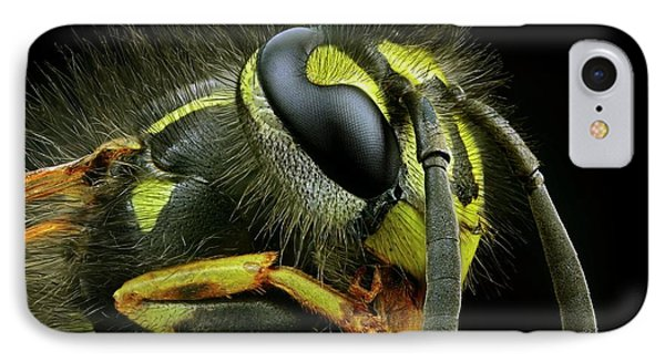 Wasp Head IPhone Case by Frank Fox