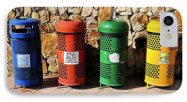 Waste Separation And Recycling Bins IPhone Case by Photostock-israel