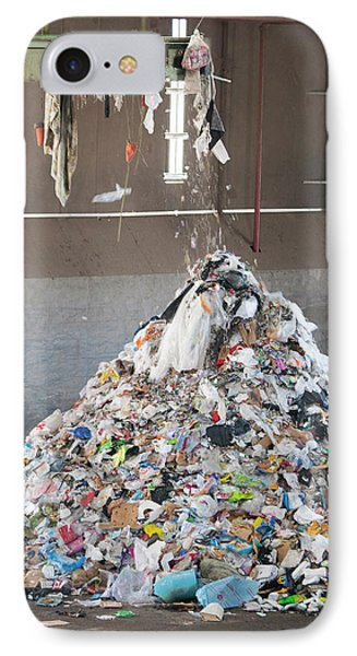Waste Stream At A Recycling Centre IPhone Case by Peter Menzel