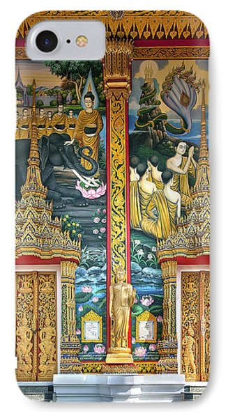 IPhone Case featuring the photograph Wat Choeng Thale Ordination Hall Facade Dthp143 by Gerry Gantt