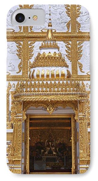Wat Nong Bua Door Of Main Stupa Dthu448 Phone Case by Gerry Gantt