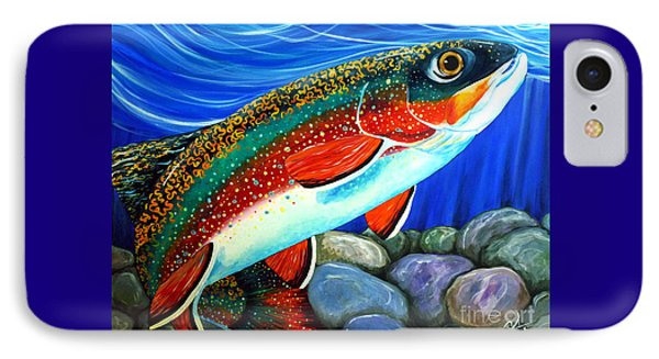 Brook Trout  IPhone Case by Jackie Carpenter