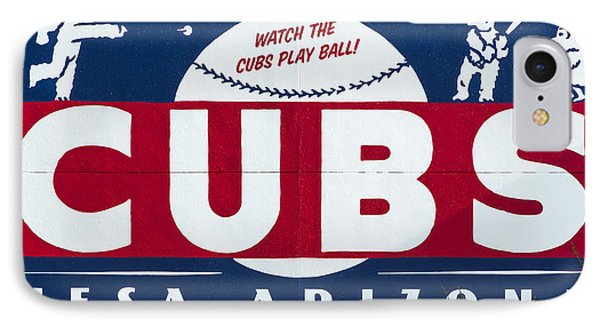 Watch The Cubs IPhone Case by Stephen Stookey