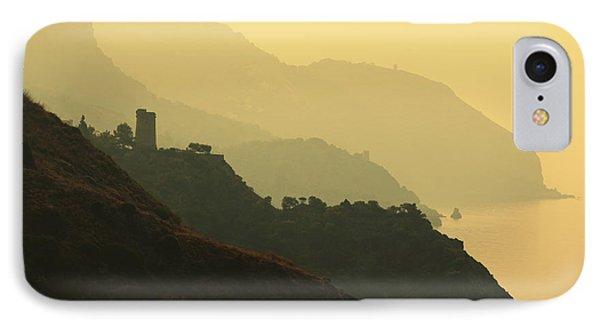 Watch Towers On The Marocerro Gordo Cliffs Phone Case by Ken Welsh