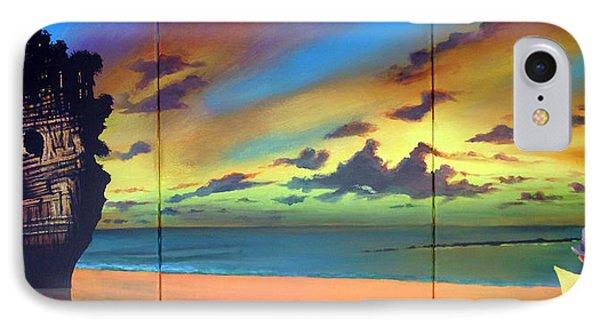 Watcher On The Beach Phone Case by Geoff Greene