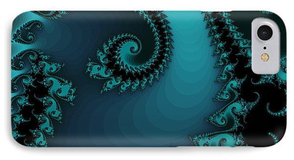 IPhone Case featuring the digital art Watchers On The Chalcedony Slide by Elizabeth McTaggart