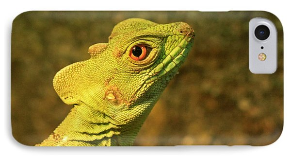 Watchful Eye Of The Green Basilisk Lizard  Phone Case by Inspired Nature Photography Fine Art Photography