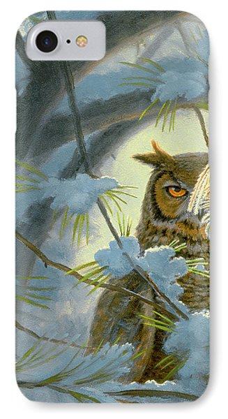 Watchful Eye-owl IPhone Case by Paul Krapf