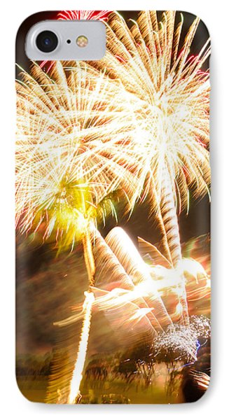 IPhone Case featuring the photograph Watching Fireworks by Haleh Mahbod