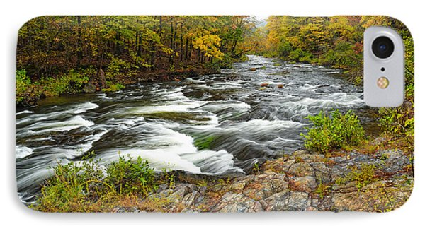 Watching It All Go By  At Beaver's Bend Broken Bow Fall  Foliage Oklahoma IPhone Case by Silvio Ligutti