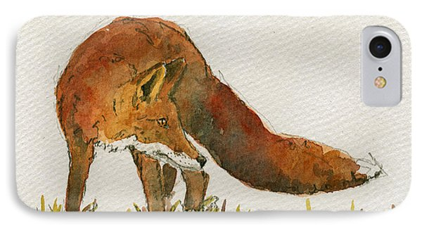 Watching Red Fox IPhone Case