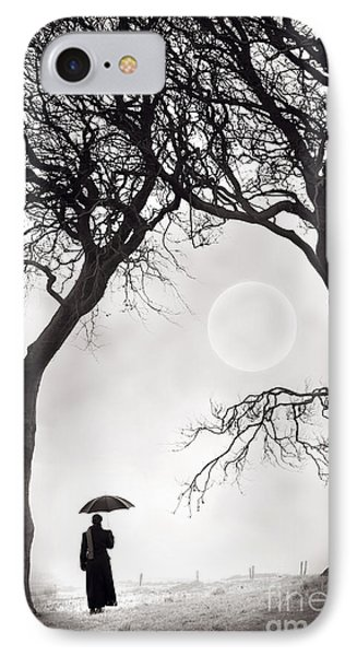 Watching The Moon Phone Case by Lee Avison