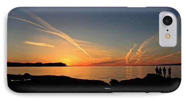 Watching The Sun Go Down Phone Case by Randy Hall
