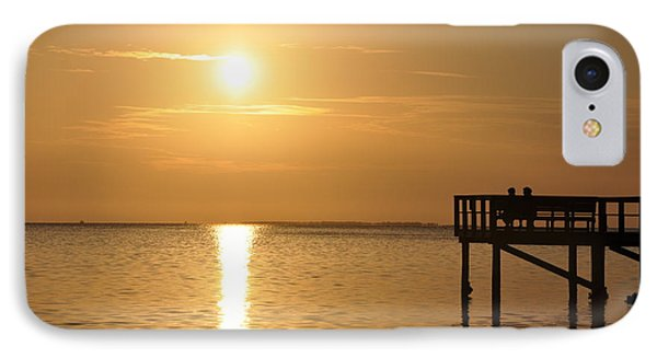 Watching The Sunset IPhone Case by Bill Cannon