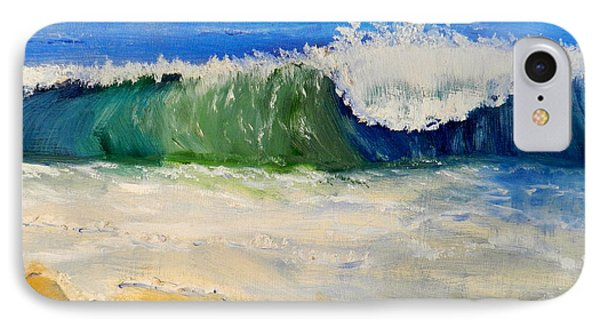 Watching The Wave As Come On The Beach IPhone Case