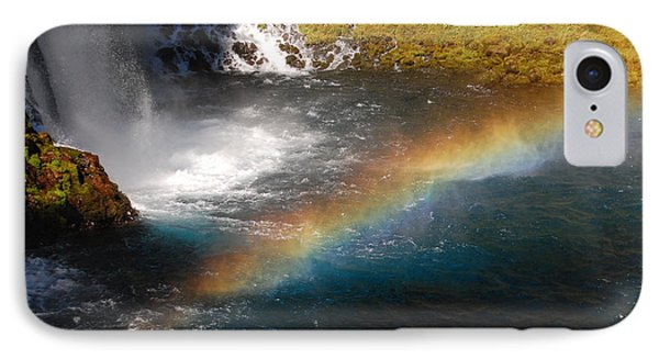 IPhone Case featuring the photograph Water And Rainbow by Debra Thompson