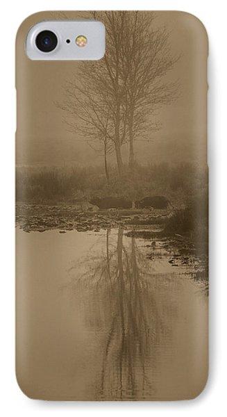 Water Buffalo Morning Fog Phone Case by Frank Feliciano
