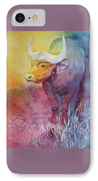 IPhone Case featuring the painting Water Buffalo by Nancy Jolley