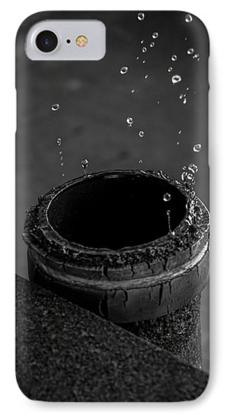 Water Dripping Up The Spout Phone Case by Bob Orsillo
