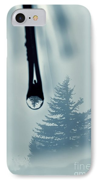 Water Drop With Tree Reflection Phone Case by Dan Friend