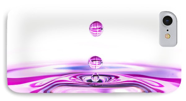 Water Droplets White And Purple IPhone Case by Sabine Jacobs