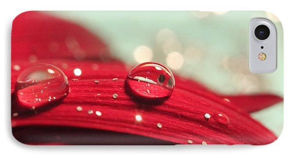 Water Drops And Glitter IPhone Case by Angela Murdock
