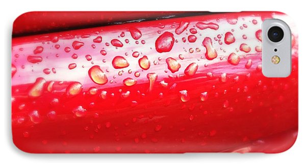 Water Drops On Red Car Paint IPhone Case