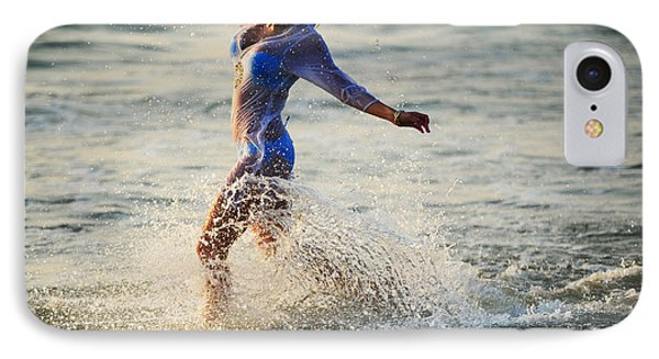Water Excitement IPhone Case by Jenny Rainbow