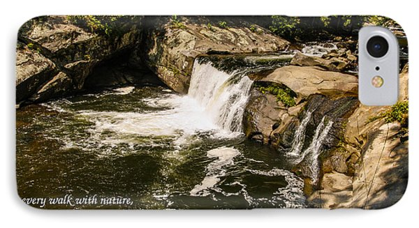 Water Fall With John Muir Quote IPhone Case by Marilyn Carlyle Greiner