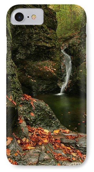 Water Falls As Autumn Starts Phone Case by Karol Livote