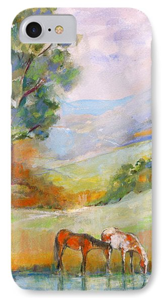 IPhone Case featuring the painting Water Hole by Mary Armstrong