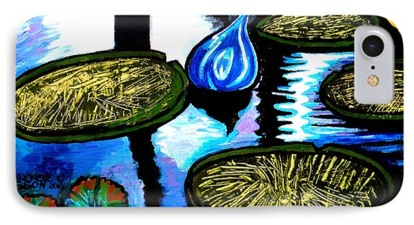 Water Lilies And Chihuly Glass Baubles At Missouri Botanical Garden IPhone Case