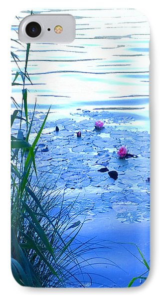 Water Lilies Blue IPhone Case