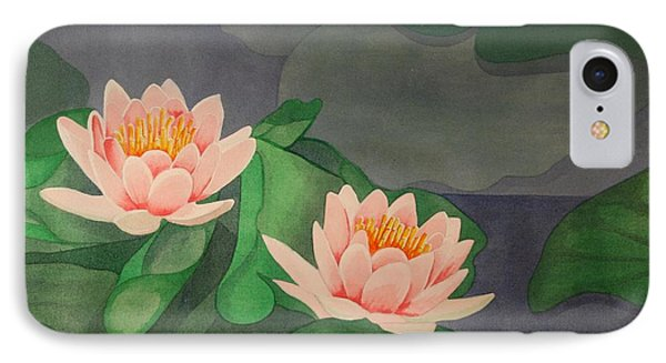 IPhone Case featuring the painting Water Lilies by Paul Amaranto