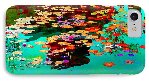 Water Lilies Pond Pink Lotus And Koi  Beautiful Nympheas Water Garden  Quebec Art Carole Spandau IPhone Case by Carole Spandau