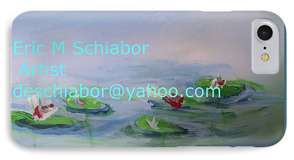 Water Lilies Print Phone Case by Eric  Schiabor