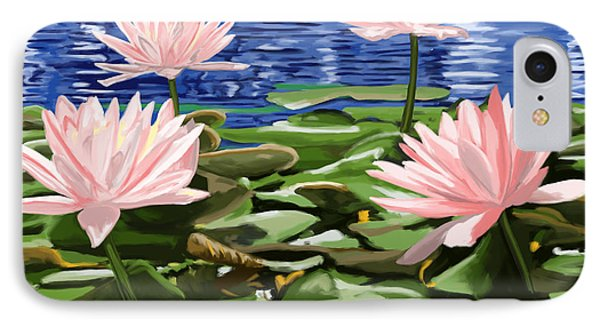 Water Lilies Phone Case by Tim Gilliland