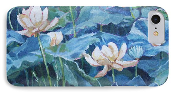 Water Lilies Two IPhone Case by Jan Bennicoff