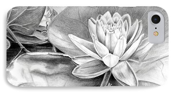 IPhone Case featuring the drawing Water Lilly by Laurianna Taylor